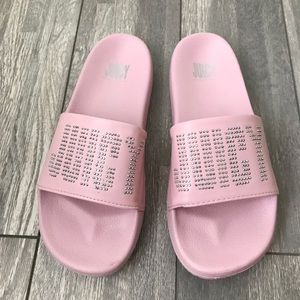 Juicy logo Pink Slides